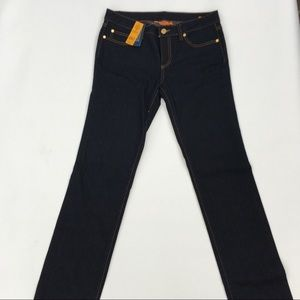 NWT Tory Burch dark wash straight leg jeans